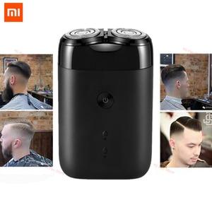 Image 1 - Più nuovo 2019 Xiaomi Norma Mijia Rasoio Elettrico 2 Galleggiante Testa Portatile Impermeabile Rasoio Rasoi USB Ricaricabile In Acciaio per Gli Uomini