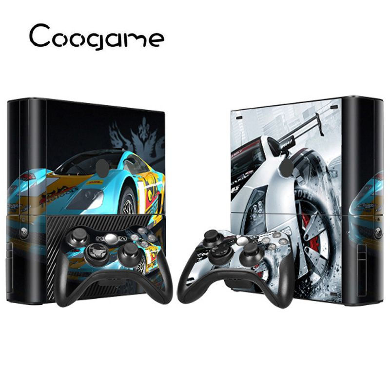 Racing Cars Stickers For Microsoft Xbox 360 E Conslole Games Race Machine Decal For Xbox 360E Joystick Kart Skins