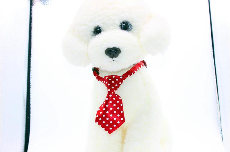DHL darmowa wysyłka hurtownie 500 sztuk Mix 40 wzór poliester dla zwierząt domowych krawat regulowany mucha dla psa krawat pies kołnierz Grooming dostaw