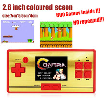 High quality 2.6 inch Preload 600 Classical Different Mini Games Handheld Game Console Game Player support many classical Games