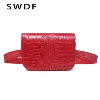 SWDF Thời Trang Da Thắt Lưng Túi Điện Thoại Túi Vành Đai Eo của Phụ Nữ Belt Pouch Eo Gói Vành Đai Du Lịch Ví Bolosa Nữ fanny Gói