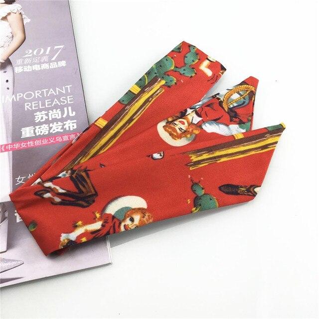 Fil de ruban imprimé en Europe et aux états-unis | Coiffure rétro, serviette de cheveux féminine mignonne lavage Baotou