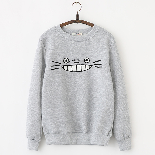 Totoro Spring Autumn Hoodies Sweatshirts