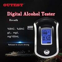 Professional Mini Police Digital LCD Screen Breath Alkohol Alcohol Tester Breathalyzer AT6000 Bafometro Alcoholimetro