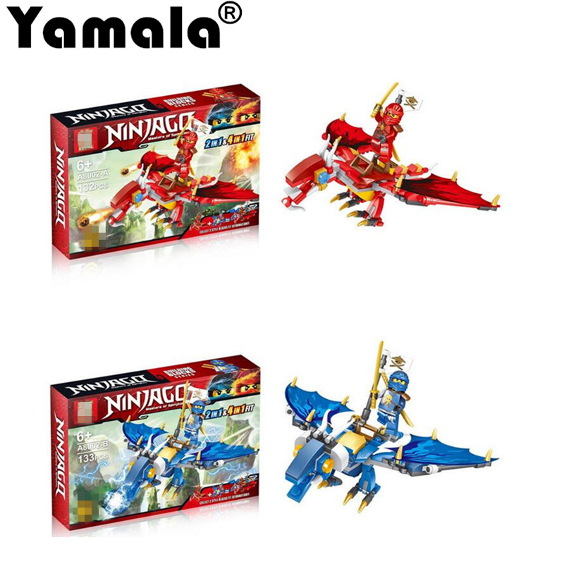 [Yamala] Ninjagoes Dragon  Building Block Kai Jay Cole Zane Lloyd Wu Nya Garmadon Ninja Toys Compatible With Legoingly Ninjagoes 2017 new single ninja movie nadakhan dogshank kai jay cole zane nya lloyd building brick toys x0112 x0118
