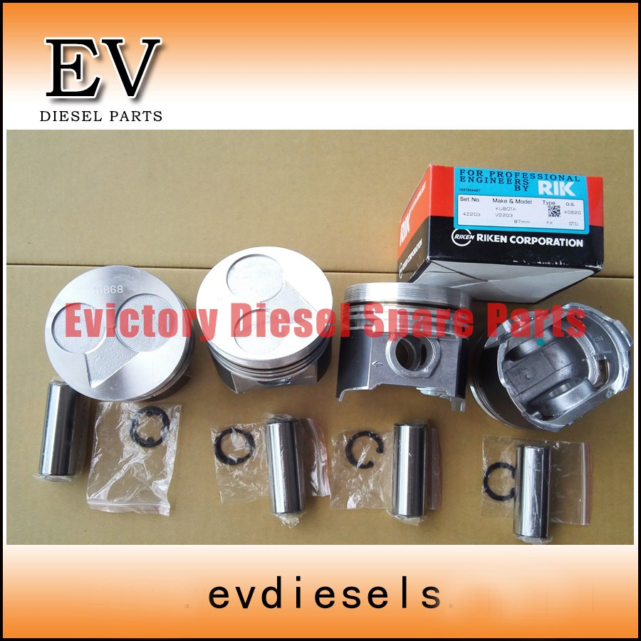 V2203 piston and piston ring