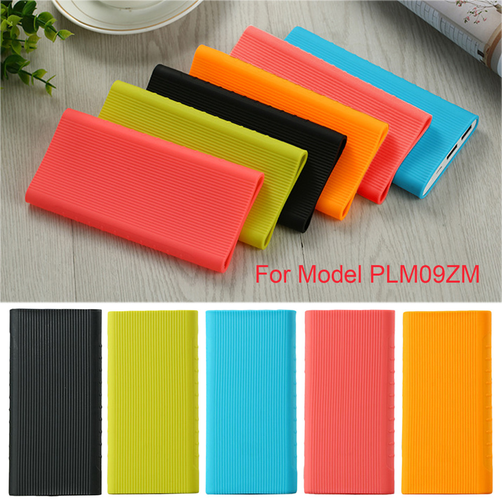 Besegad Anti-Slip Soft Silicone Protective Skin Wrap Case Cover Shell for New Xiaomi Mi Power Bank 2 10000mAh Dual USB Port image