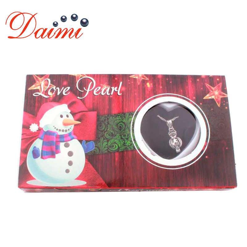 DAIMI Wish กล่อง Pearl สร้อยคอของขวัญกรงธรรมชาติ Oyster กล่อง DIY กล่องเครื่องประดับคริสต์มาสของขวัญ