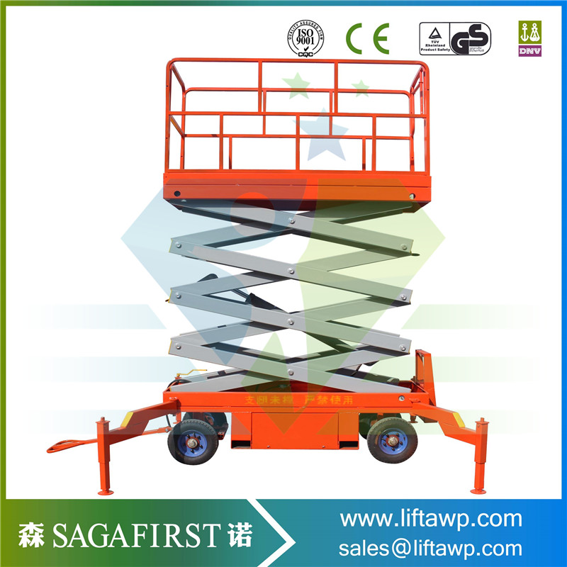 10m 500kg Electric Aerial Elevator Platform Scissor Lift