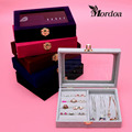 Fashion Jewelry Display Casket Jewelry Organizer Earrings Ring Pendent Box Case for Jewlery Gift Box Jewelry Box Free Shipping