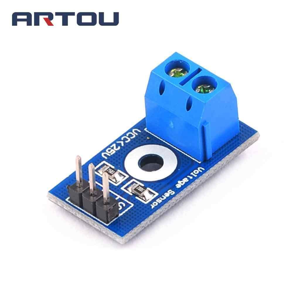 Inteligente eletrônica dc 0-25 v padrão módulo sensor de tensão teste tijolos eletrônicos robô inteligente para arduino kit diy