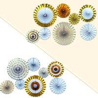 Paper Fan Folding Hanging Glitter Tissue 2 Color DIY Decoration Bedroom