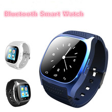 2016 New Smartwatch M26 Sport Bluetooth Smart Watch With Dial SMS Remind Pedometer for Android Samsung xiaomi Huawei phone