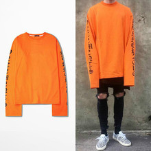 2017ss Top Vetements Oversized Sweatshirts Men Women Hoodies Oversize Drooping Shoulders Men's Top Kanye West Fog Sweatshirt