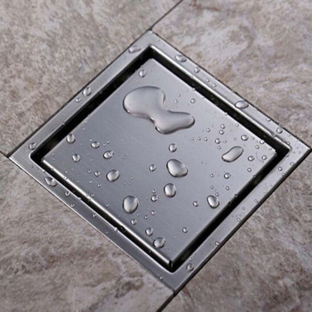 Install Flooring Around Floor Drain: Concealed Drainage Washing Waste Water Drainage Device Of