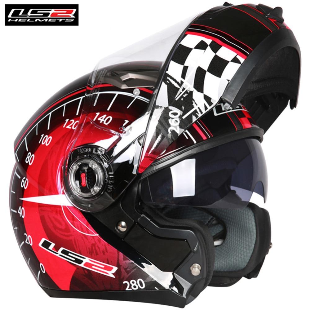 LS2 Flip Up Casco Del Motociclo Pieno Viso Modulare Casque Casco Capacete Aperto Caschi Moto Kask Timone Harley Cruiser FF370