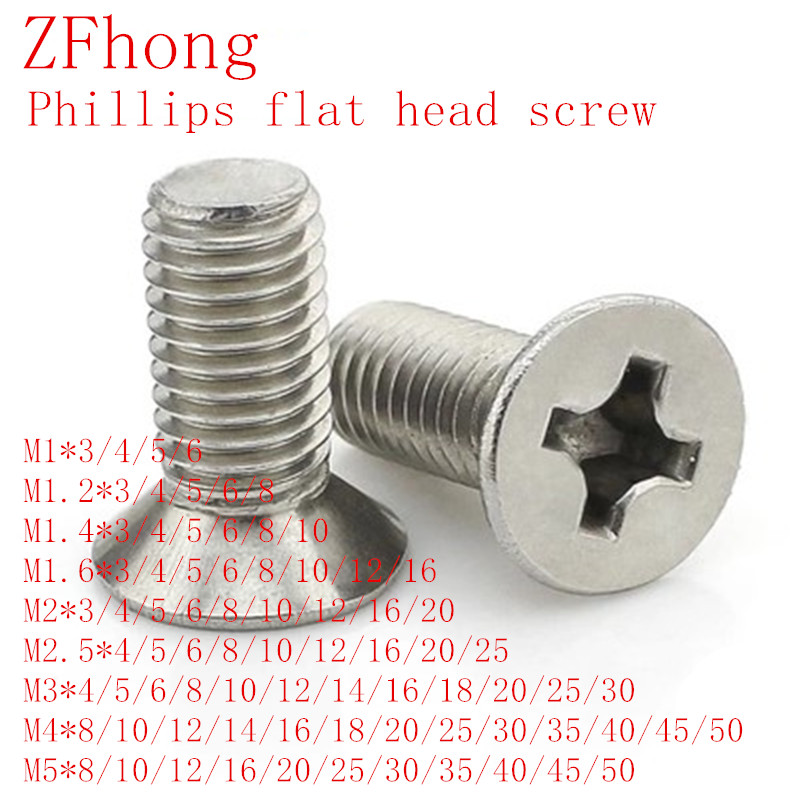 4mm M4 COUNTERSUNK POZI MACHINE SCREWS A2 304 STAINLESS STEEL DIN 965