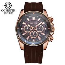цена на Men's Quartz Watches Top Brand Luxury Men Waterproof Calendar Wrist Watch Silicone Strap Male Fashion Student Watch Montre Homme