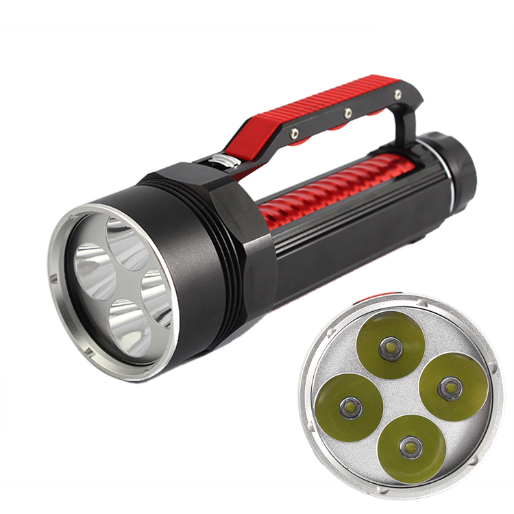 Anjoet Waterproof 10000LM CREE XML 4x L2 Scuba Diving Flashlight LED Underwater Torch LED Aluminum Stepless Adjust Brightness 10000lm scuba diving lantern 5x xml l2 led flashlight torch light underwater 100m waterproof lamp