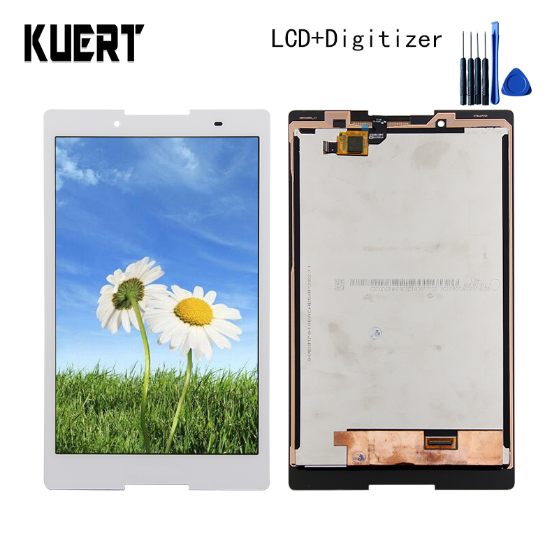 Panel LCD Combo Touch Screen Digitizer Glass LCD Display Assembly For Lenovo Tab 2 A8-50F A8-50LC Accessories Parts  Free Tools lcd screen display digitizer touch panel glass assembly for huawei honor 3c 100% original new white black tools free 3pcs lot