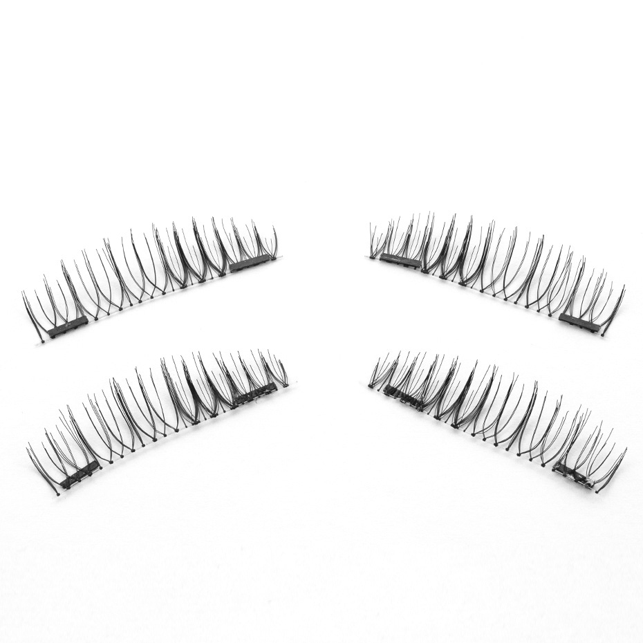 HaHaLash Magnetic Eyelashes 6D eype with two tiny magnets Natural curl Hand Made Factory Sell Eyelashes extention-HH-CT01-2