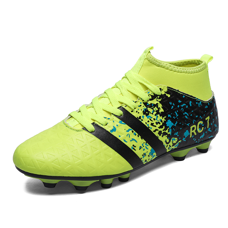 AG soccer shoes for men football boots adults professional soccer cleats original outdoor athletic training sneaker size 39 45