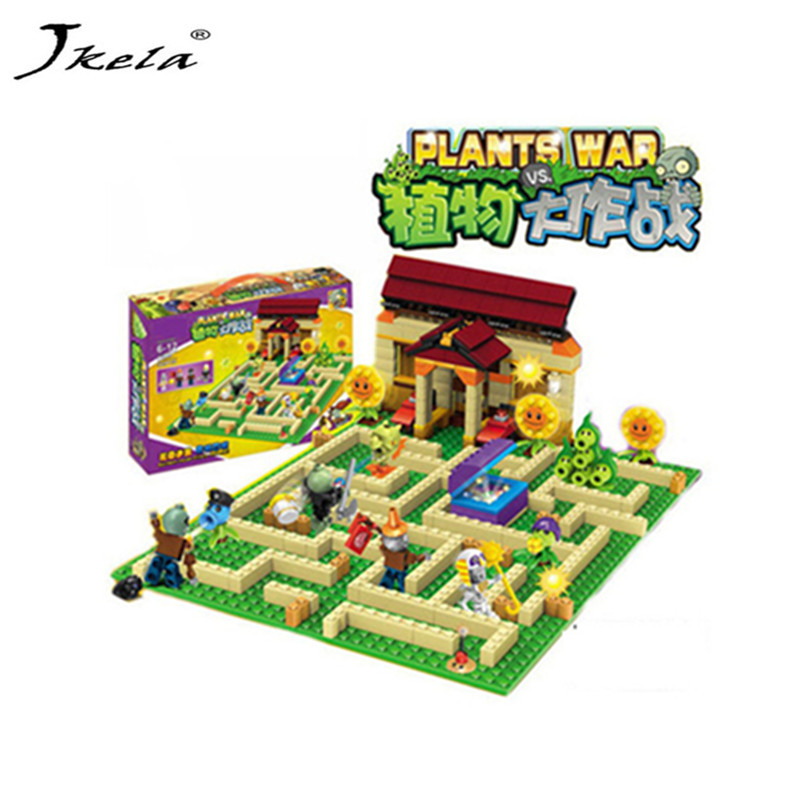 [Jkela] New plants vs zombies struck game toy & figures Building Blocks Bricks Compatible With Legoingly my world minecraft qunlong toys compatible legos minecraft city model building blocks diy my world action figures bricks educational boy girl toy