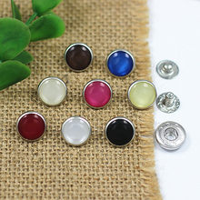 Free shipping 12mm 50pcs/lot high quality resin bread pearl copper prong snap button bodysuit popper children's clothing button(China)