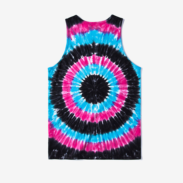 Aolamegs Tank Tops Men Tie Dye Rainbow Color Tee Sleeveless T Shirts Homme 2017 Spring Summer Hip Hop Fashion Streetwear M-XXL (7)