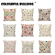 Simple Drawing Pattern Landscape Printed Cushion Covers Room Decor For Sofa Chair Happy Camper 45