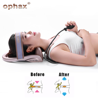 OPHAX Portable Pneumatic Cervical Vertebra Tractor Home Health Care Posture Pump Neck Massager Spine Traction Muscle Pain Relief