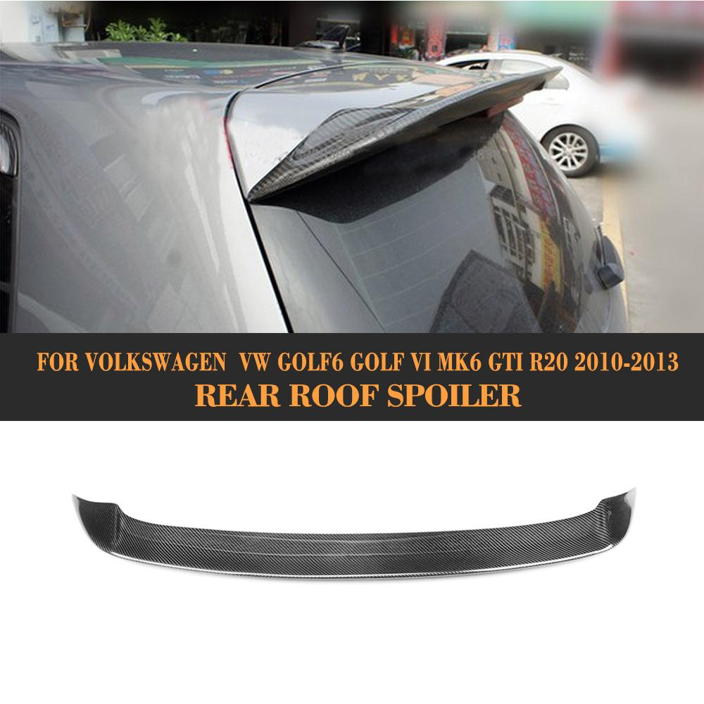 High Quality Carbon Fiber Rear Wing Spoiler For VW Golf 6 VI MK6 R20 GTI 2010-2013 Auto Car Styling Black FRPHigh Quality Carbon Fiber Rear Wing Spoiler For VW Golf 6 VI MK6 R20 GTI 2010-2013 Auto Car Styling Black FRP