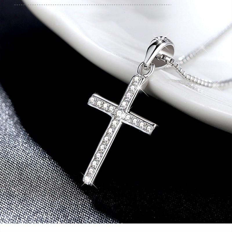 hot sale silver cross necklace pendant fashion elegant. Black Bedroom Furniture Sets. Home Design Ideas