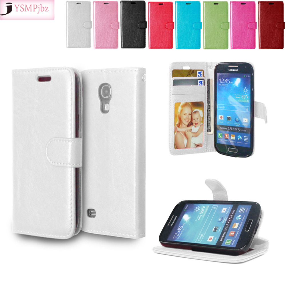 a3c74ef8467 De cuero para Samsung Galaxy S4 mini S 4 i9195 i9190 i9192 Duos Flip  teléfono cubierta para S4mini 4 mini GT-i9195 GT-i9190 GT-i9192 caso