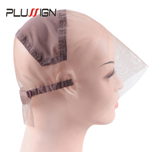 Plussign Full Transparent Swiss Lace Wig Cap For Making Full Lace Wigs With Adjustable Strap Custom Your Own Style Hairnet