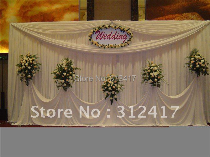 Top Selling 10x20 Solid White Simple Backdrop For Wedding Stage Decorations In Event Party From Home Garden On Aliexpress