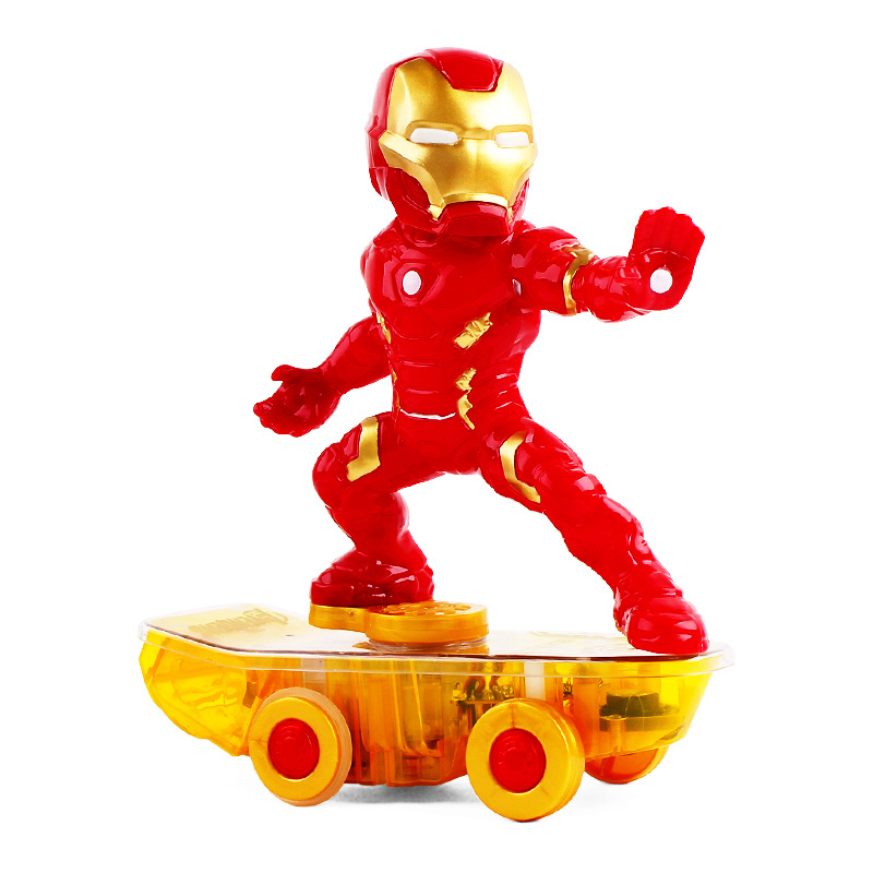 RC Car Iron Man Scooter Marvel Superhero The Avengers Electric Car Remote Control Toy 2.4G 1:16 Toys For Children Birthday Gift