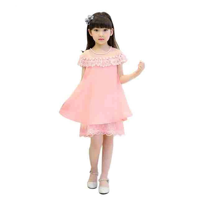 2018 летнее платье принцессы для девочек Детские вечерние Костюмы Детские шифоновые кружевные платья для маленьких девочек вечерние жемчуг ... ...