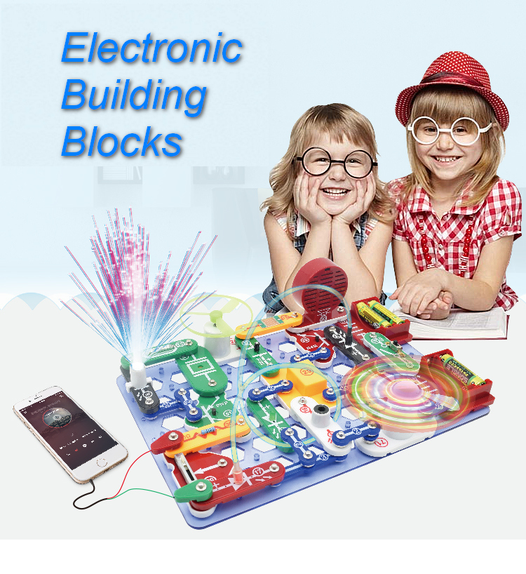 2088 Kinds Compound Mode Snap Circuits Electronics Discovery Kit Electronic Building Blocks Assembling Toys for Kids toys cathleen shamieh getting started with electronics build electronic circuits