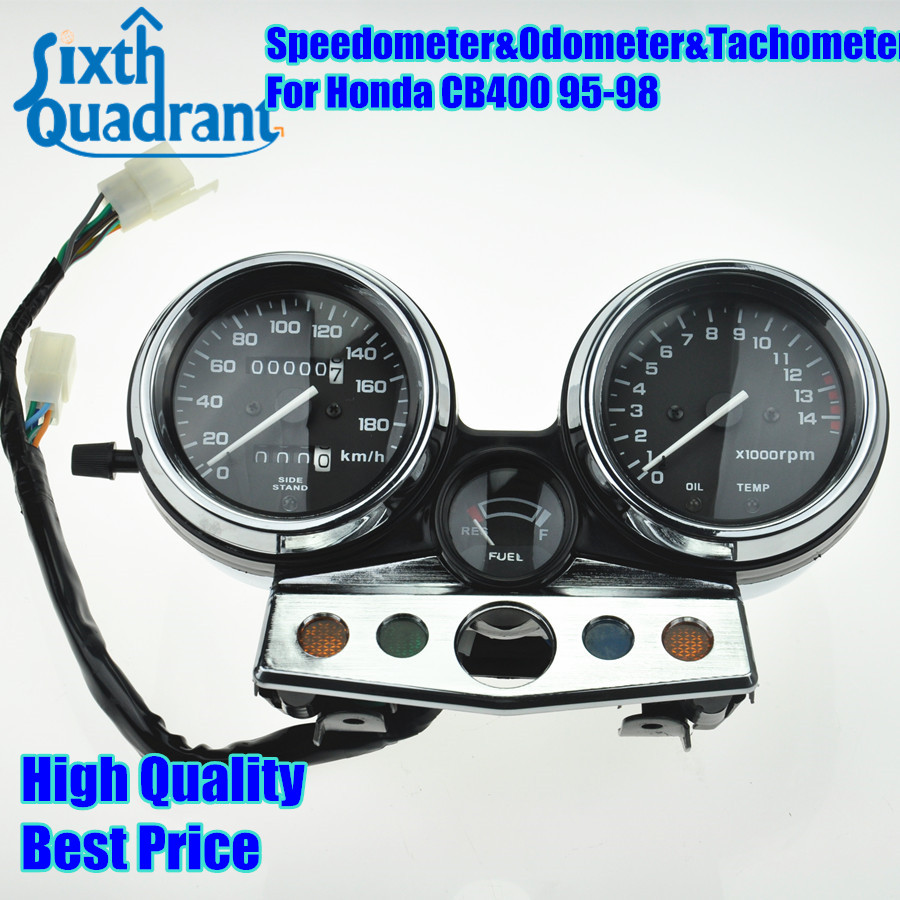 Free Shipping Motorcycle Speedometer Odometer Tachometer Gauges Cluster For Honda CB400 1995 1996 1997 1998 95 96 97 98