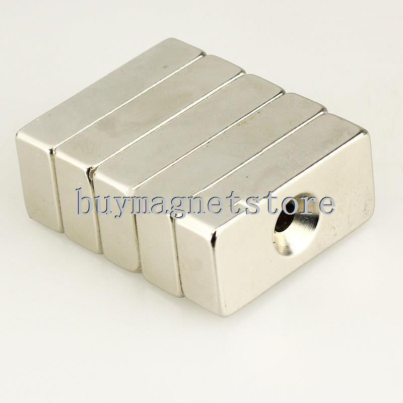 1pc N35 Strong Block Magnets 40 mm x 20 mm x 10 mm Hole 6 mm Rare Earth Neodymium magnets 40 20 n35 4pcs n35 ndfeb d40x20 mm strong magnet lodestone super permanent neodymium d40 20 mm d 40 mm x 20 mm magnets
