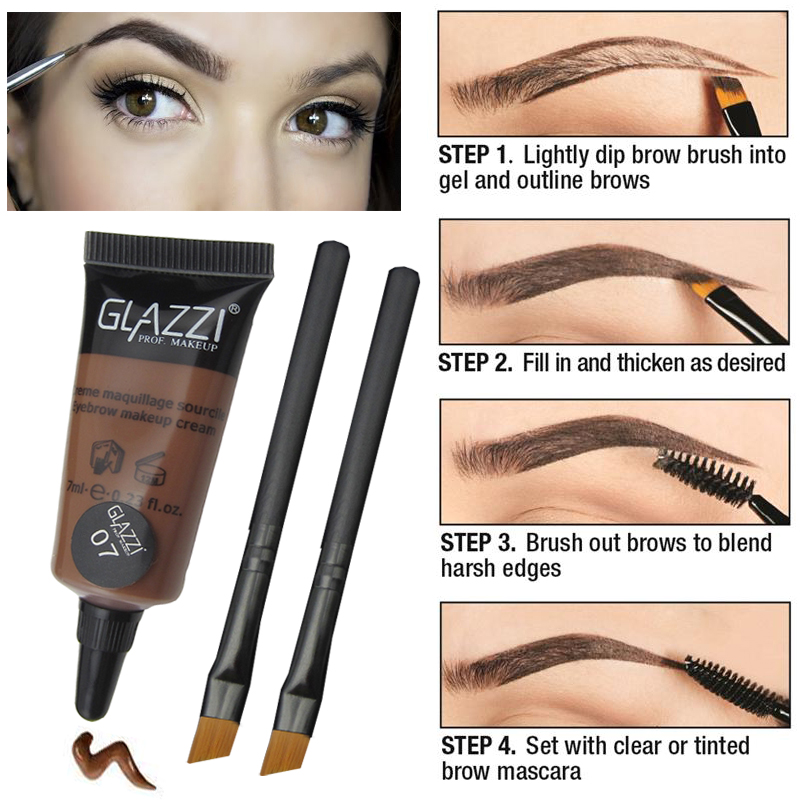 Professional make up brown eye brow tint long lasting for Waterproof eyebrow tattoo