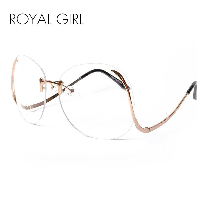 Rimless Eyeglasses 2017 : ROYAL GIRL 2017 NEW Unique Eyeglasses Women Rimless frames ...