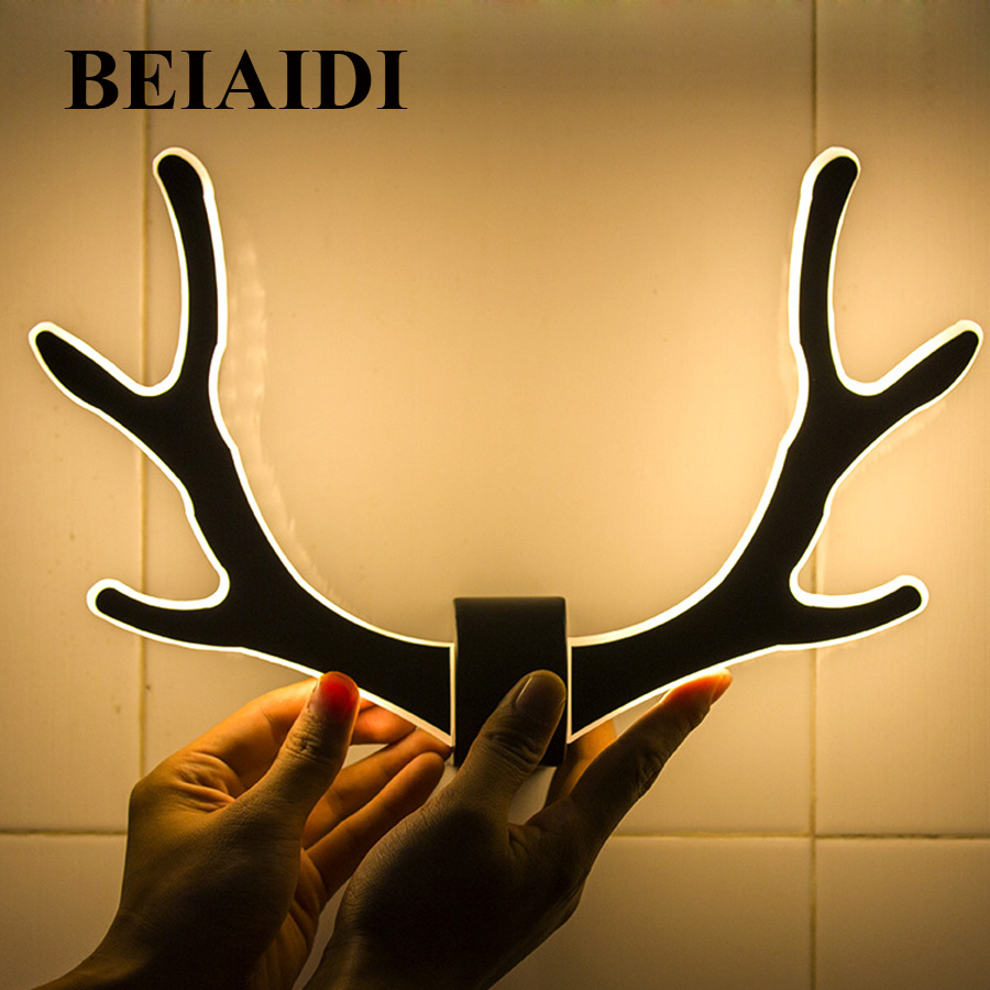 Colorful White Antlers Wall Decor Festooning - Wall Art Collections ...