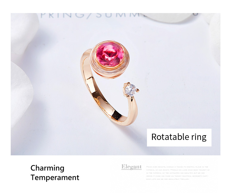 Pink Crystals Rose Gold Ring (10)