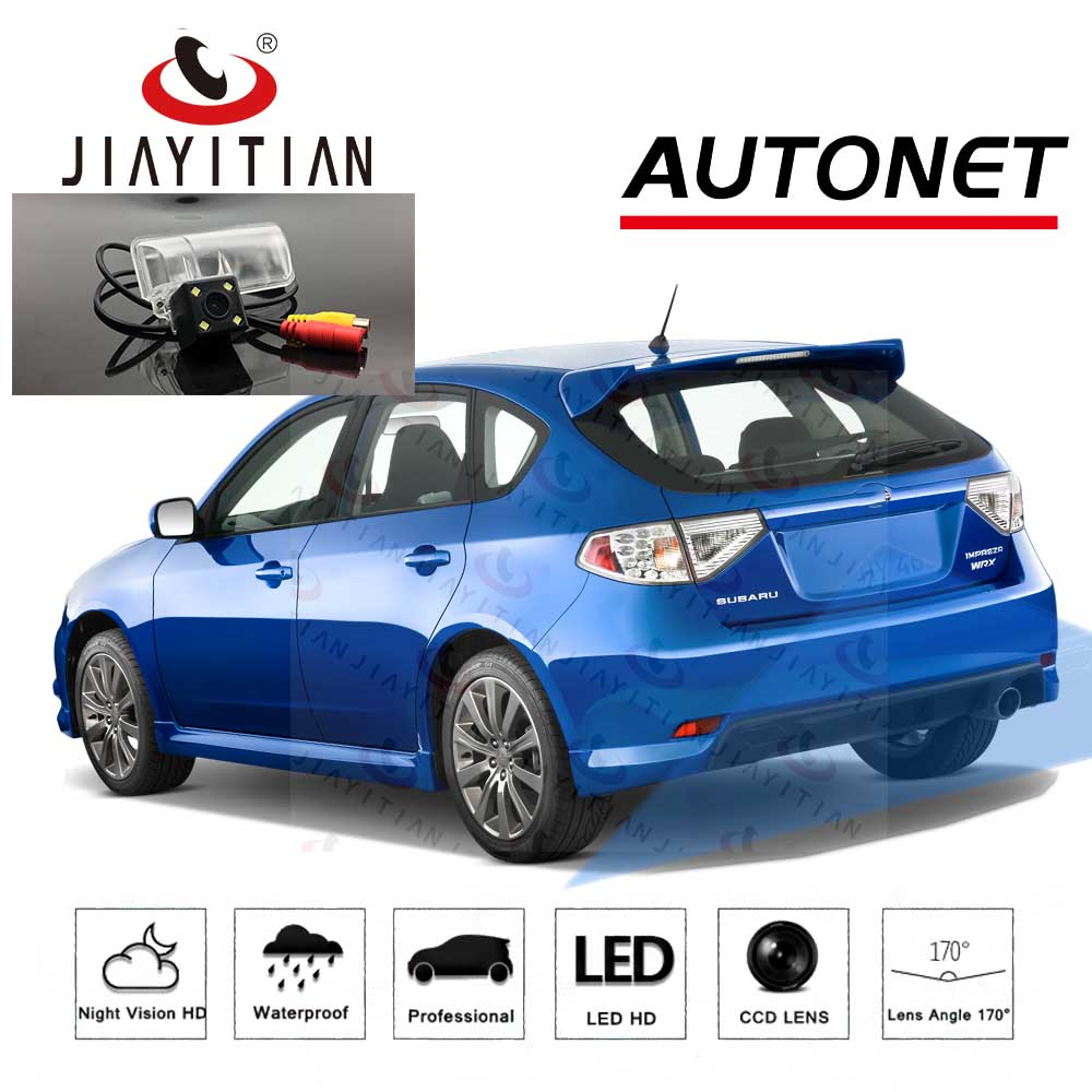 JIAYITIAN Rear View Camera For Subaru Impreza Hatchback GH/GR 2007 2008 2009 2010 2011 CCD Backup Camera License Plate Camera