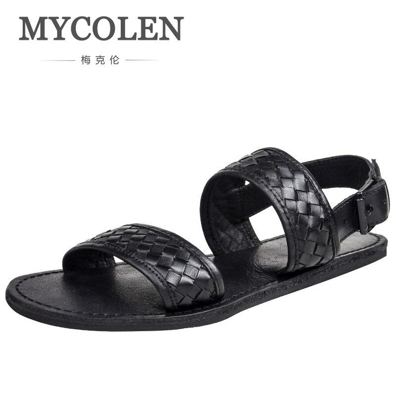 MYCOLEN Men Summer Sandals Beach Shoes Luxury Designers Lightweight Breathable Non-Slip Simple Joker Outdoor Shoes Sandalen