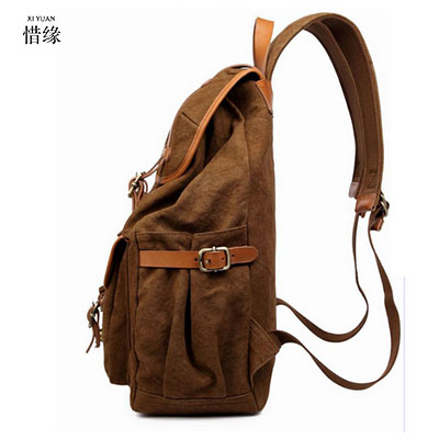 Canvas Men's Backpack Bag Brand Laptop Notebook Mochila for Men Waterproof Back Pack school backpack bag Christmas gift for boy холодильник с морозильной камерой beko cmv 533103 b