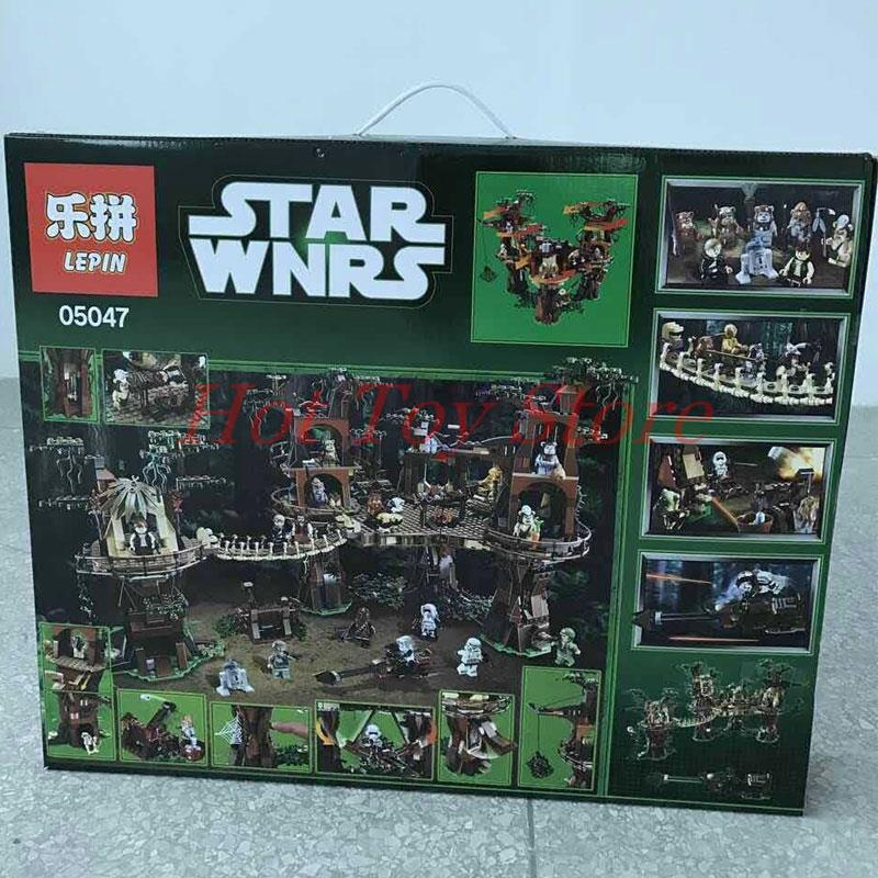 In Stock font b LEPIN b font 05047 1990Pcs Star Wars Ewok Village Model Building Kits