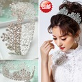 Europe palace retro hair accessories bridal wedding jewelry wedding dress tiara crown full of rhinestone shine big